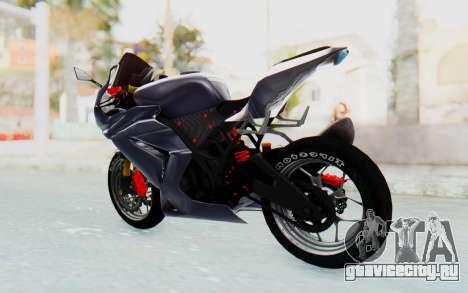 Kawasaki Ninja 250R Streetrace v2 для GTA San Andreas вид сзади слева
