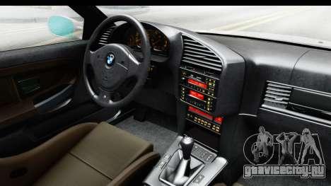 BMW M3 E36 Stance Lithuanian Police для GTA San Andreas вид изнутри