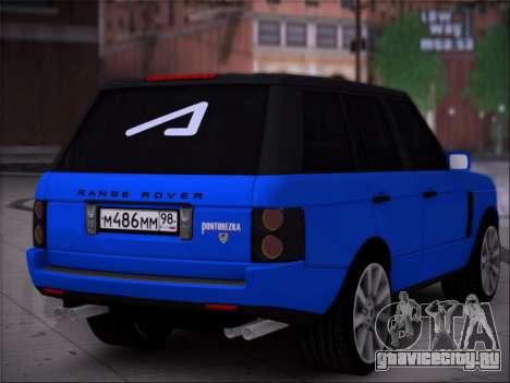 Range Rover Sport Понторезка для GTA San Andreas вид слева