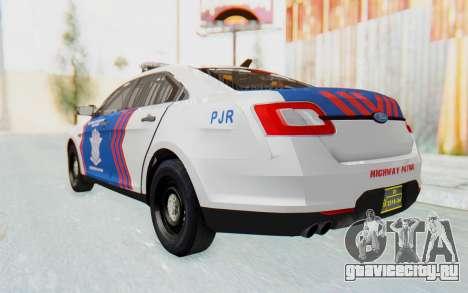 Ford Taurus Indonesian Traffic Police для GTA San Andreas вид справа