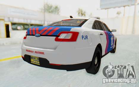 Ford Taurus Indonesian Traffic Police для GTA San Andreas вид слева