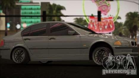 BMW E46 для GTA San Andreas вид изнутри