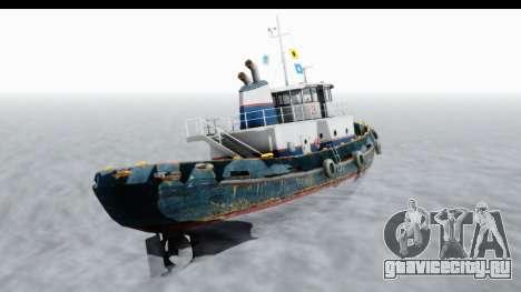 GTA 5 Buckingham Tug Boat v2 IVF для GTA San Andreas вид справа