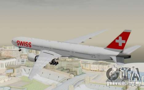 Boeing 777-300ER Swiss Global Air Lines для GTA San Andreas вид справа