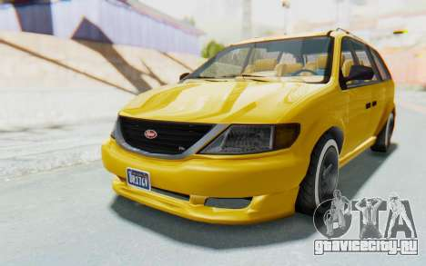 GTA 5 Vapid Minivan Custom IVF для GTA San Andreas