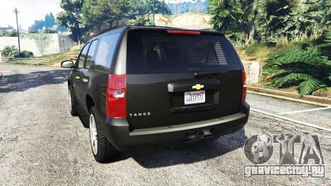 Chevrolet Tahoe для GTA 5 вид сзади слева