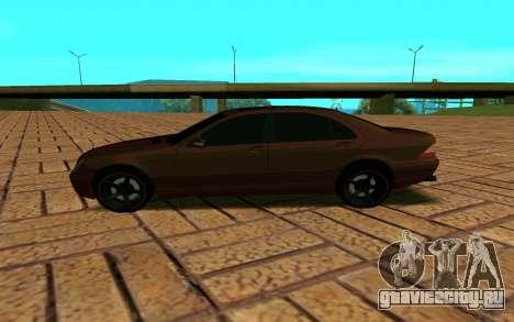 Mercedes S600 W220 JoRick Revazov для GTA San Andreas вид слева