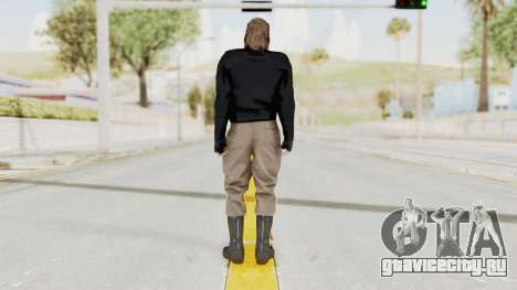 MGSV Phantom Pain BIG BOSS Leather Jacket для GTA San Andreas третий скриншот