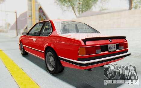 BMW M635 CSi (E24) 1984 IVF PJ2 для GTA San Andreas вид слева
