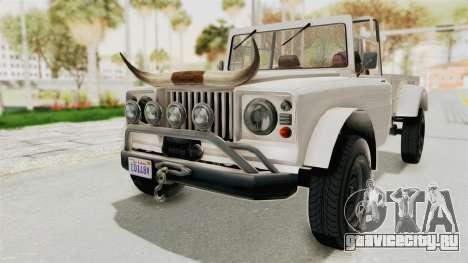 GTA 5 Canis Bodhi для GTA San Andreas вид справа