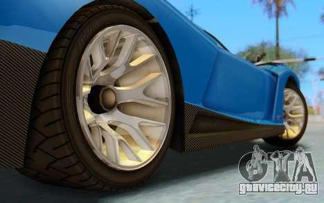 GTA 5 Grotti Cheetah SA Lights для GTA San Andreas вид сбоку