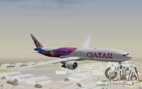 Boeing 777-300ER Qatar Airways v2 для GTA San Andreas