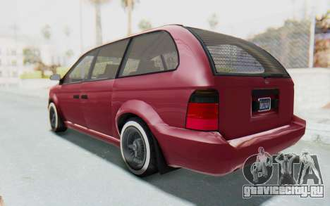 GTA 5 Vapid Minivan Custom without Hydro для GTA San Andreas вид сзади слева