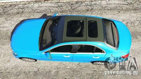 Mercedes-Benz C250 2014 для GTA 5 вид сзади