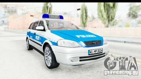 Opel Astra G Variant Polizei Hessen для GTA San Andreas вид справа