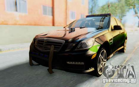 Mercedes-Benz E63 German Police Green для GTA San Andreas