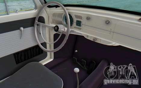 Volkswagen Beetle 1200 Type 1 1963 Herbie для GTA San Andreas вид изнутри