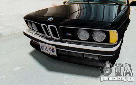 BMW M635 CSi (E24) 1984 IVF PJ3 для GTA San Andreas вид сверху