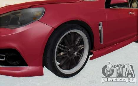 Chevrolet Super Sport 2014 для GTA San Andreas вид сзади