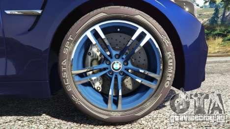 BMW M4 2015 v0.01 для GTA 5 вид сзади справа