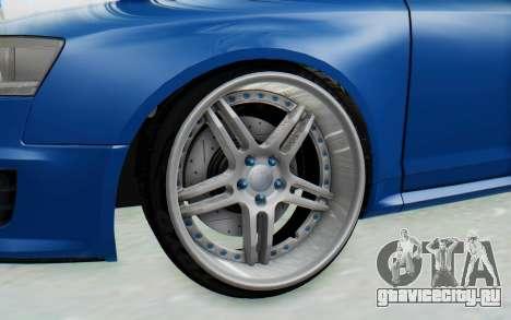 Audi RS6 для GTA San Andreas вид сзади