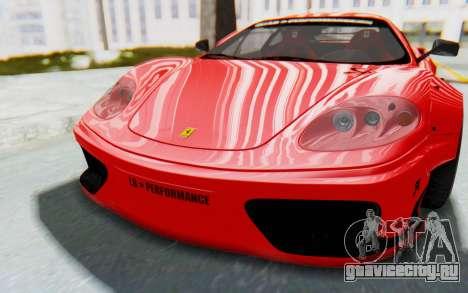 Ferrari 360 Modena Liberty Walk LB Perfomance v2 для GTA San Andreas вид сзади