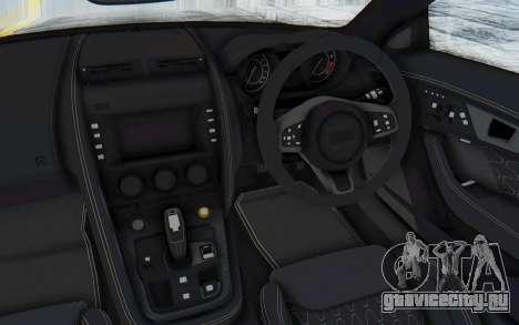 Jaguar F-Type Project 7 для GTA San Andreas вид изнутри