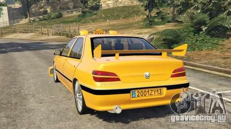 Taxi Peugeot 406 для GTA 5 вид сзади слева