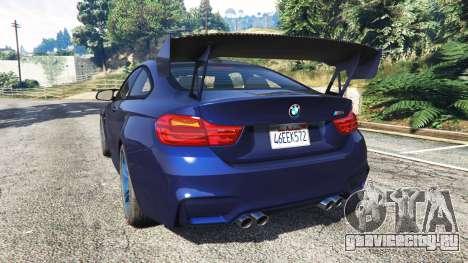BMW M4 2015 v0.01 для GTA 5 вид сзади слева