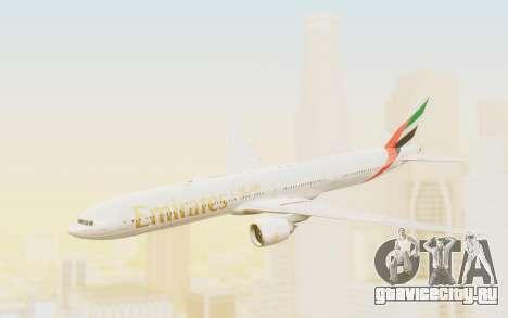 Boeing 777-300ER Emirates для GTA San Andreas вид сзади слева