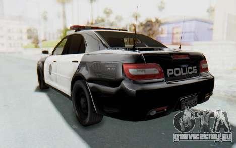 ASYM Desanne XT Pursuit v1 для GTA San Andreas вид сзади слева