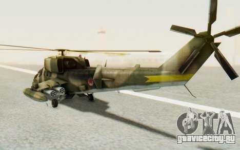 WZ-19 Attack Helicopter Asian для GTA San Andreas вид справа