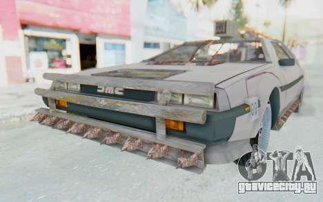 DeLorean DMC-12 2012 End Of The World для GTA San Andreas вид сзади слева