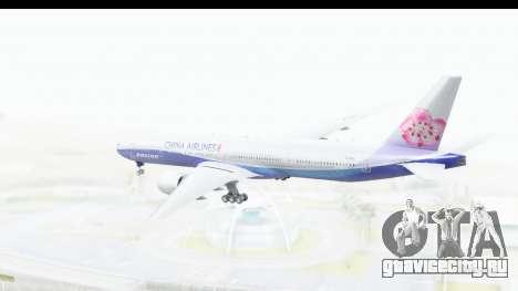 Boeing 777-300ER China Airlines Dreamliner для GTA San Andreas вид справа