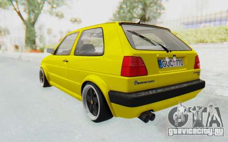 Volkswagen Golf Mk2 Lemon для GTA San Andreas вид слева