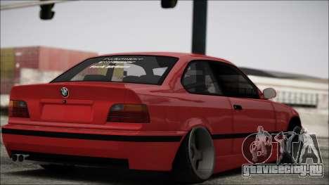 BMW E36 Stance для GTA San Andreas вид сзади слева