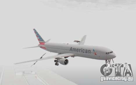 Boeing 767-300ER American Airlines для GTA San Andreas вид сзади слева