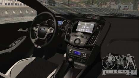 Ford Focus ST 2013 PDRM для GTA San Andreas вид изнутри