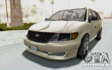 GTA 5 Vapid Minivan IVF для GTA San Andreas вид сзади слева