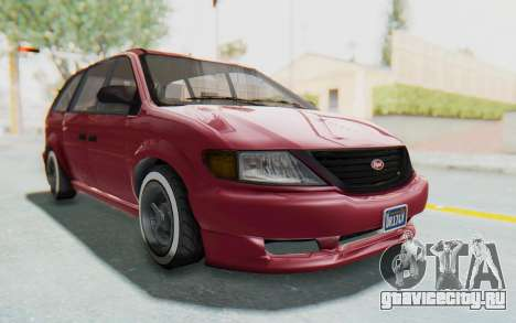 GTA 5 Vapid Minivan Custom without Hydro для GTA San Andreas