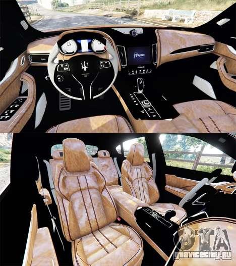 Maserati Levante 2017 для GTA 5 вид сзади справа