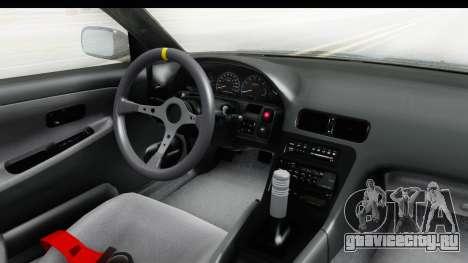 Nissan 240SX 1989 v2 для GTA San Andreas вид изнутри