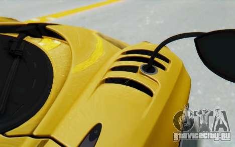 Pagani Huayra BC 2016 для GTA San Andreas вид изнутри