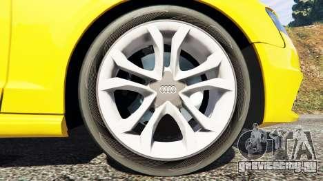 Audi A4 2009 для GTA 5 вид сзади справа