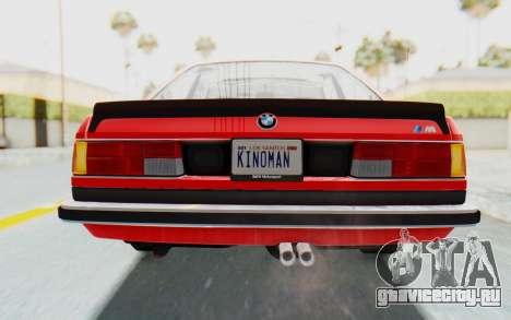 BMW M635 CSi (E24) 1984 IVF PJ2 для GTA San Andreas вид снизу