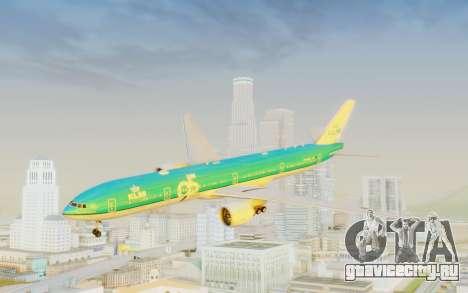 Boeing 777-300ER KLM - Royal Dutch Airlines v3 для GTA San Andreas вид сзади слева