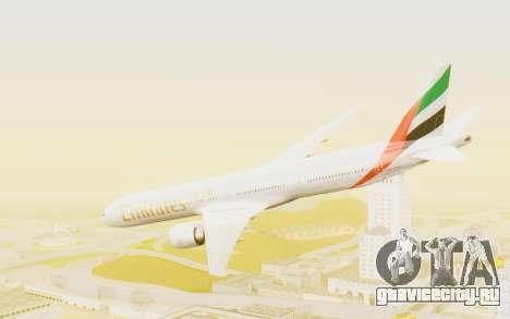 Boeing 777-300ER Emirates для GTA San Andreas вид слева