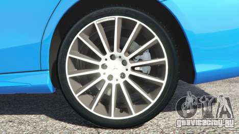 Mercedes-Benz C250 2014 для GTA 5 вид сзади справа