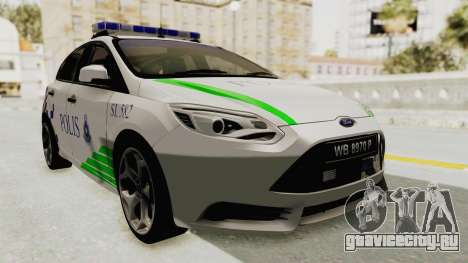Ford Focus ST 2013 PDRM для GTA San Andreas
