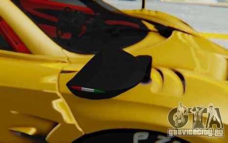 Pagani Huayra BC 2016 для GTA San Andreas вид сзади